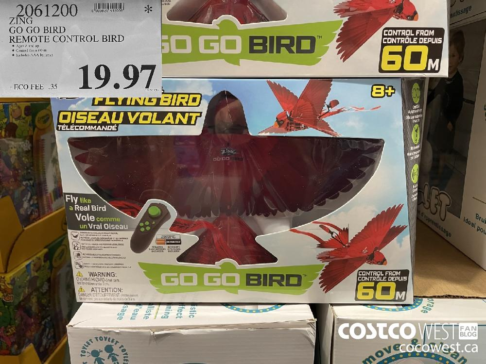 2061200 ZING GO GO BIRD REMOTE CONTROL BIRD $19.97