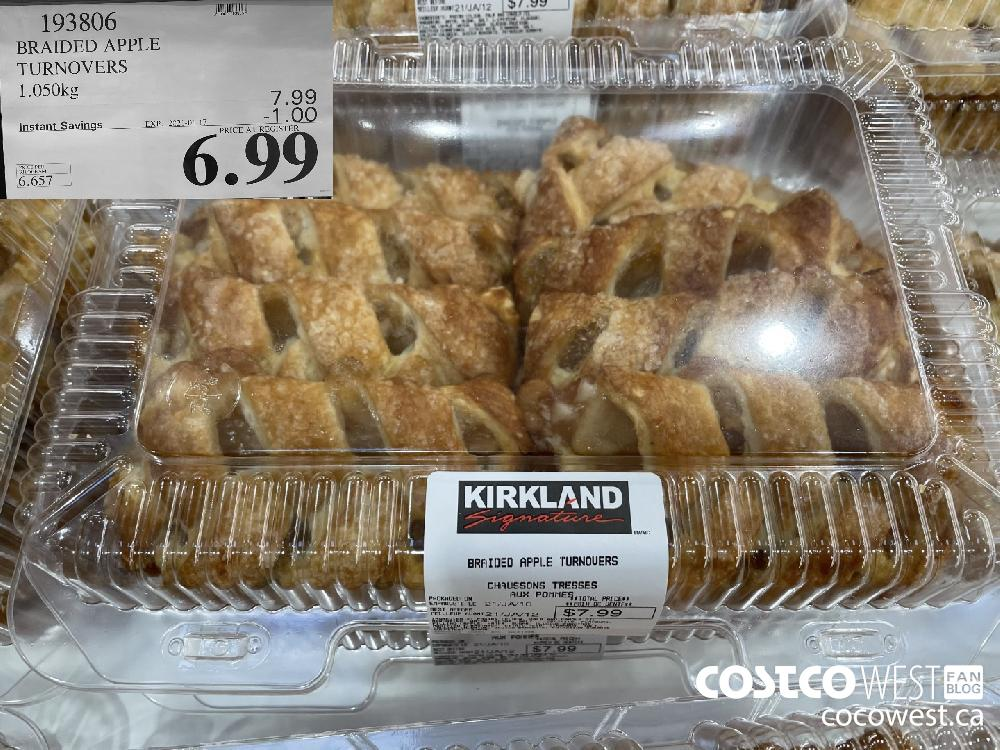 193806 BRAIDED APPLE TURNOVERS 1.050kg EXPIRY DATE: 2021-01-17 $6.99