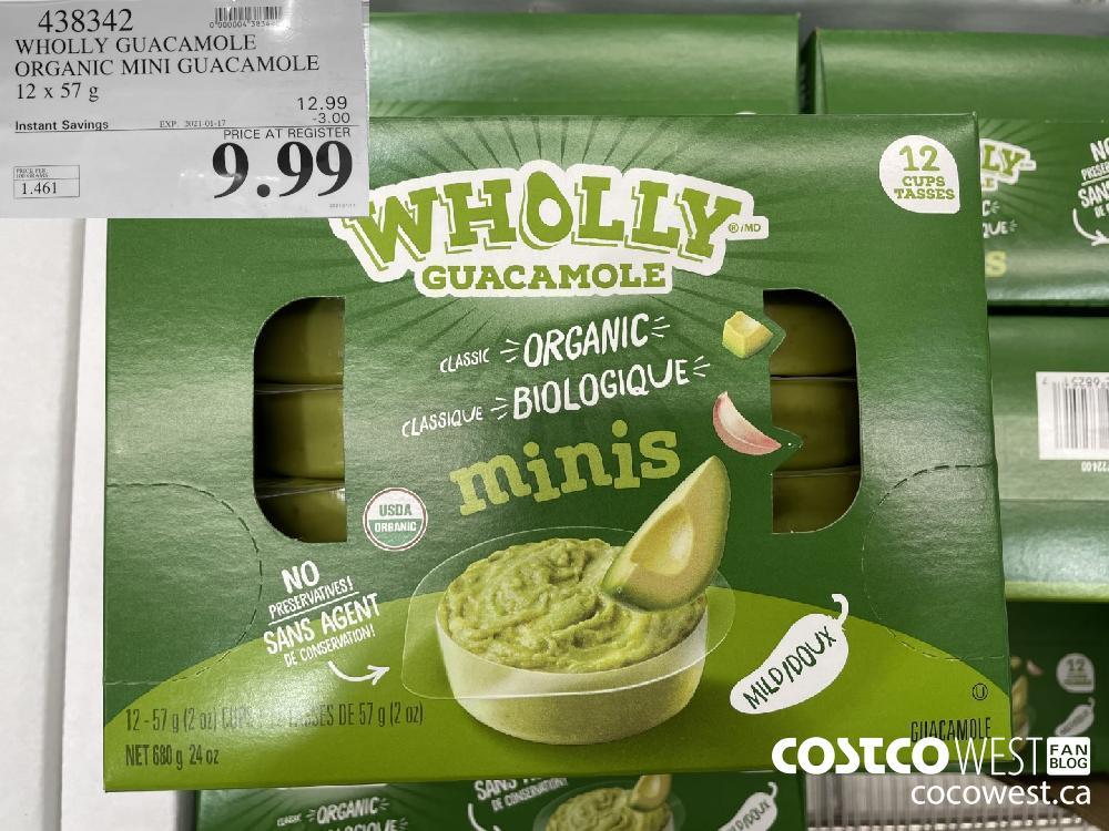 438342 WHOLLY GUACAMOLE ORGANIC MINI GUACAMOLE 12 x 57 g EXPIRY DATE: 2021-01-17 $9.99