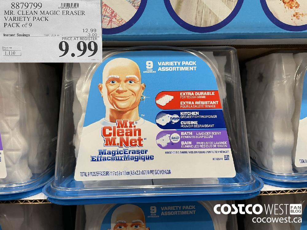 8879799 MR. CLEAN MAGIC ERASER VARIETY PACK PACK of 9 EXPIRY DATE: 2021-01-17 $9.99