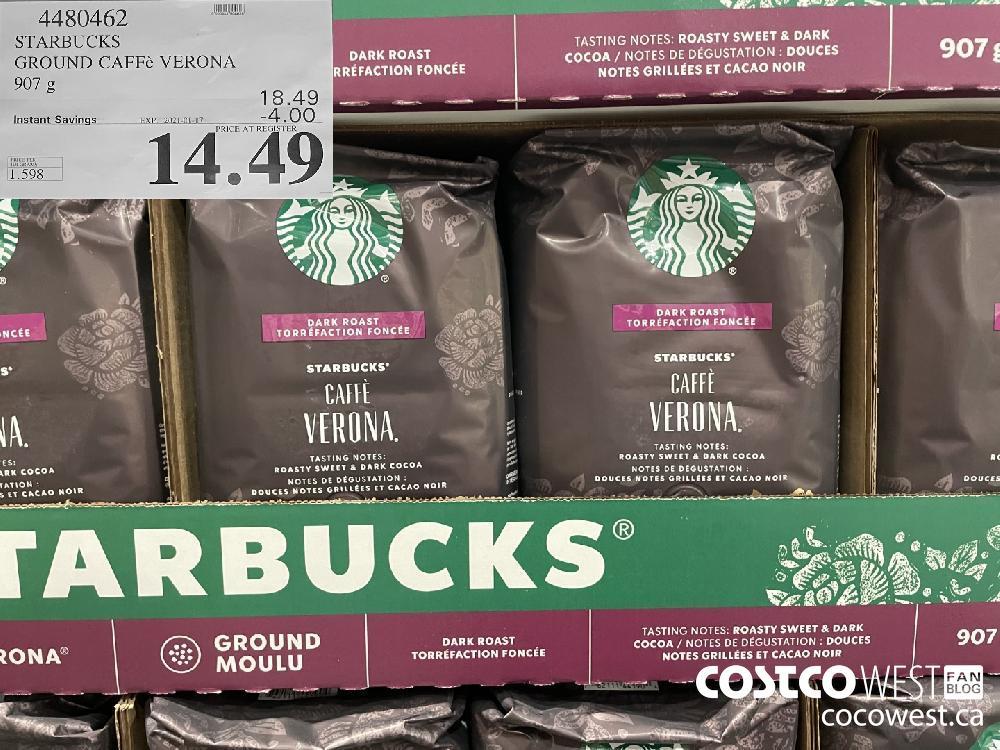 4480462 STARBUCKS GROUND CAFFé VERONA 907 g EXPIRY DATE: 2021-01-17 $14.49