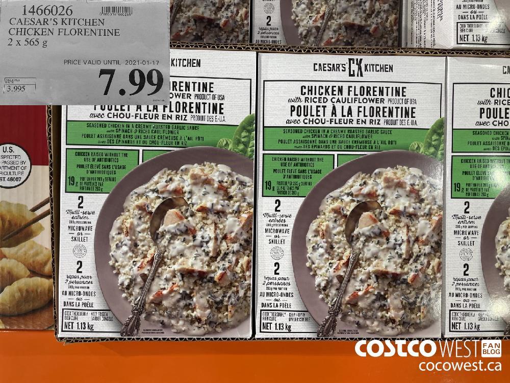 1466026 CAESAR'S KITCHEN CHICKEN FLORENTINE 2 x 565 g PRICE VALID UNTIL 2021-01-17 $7.99