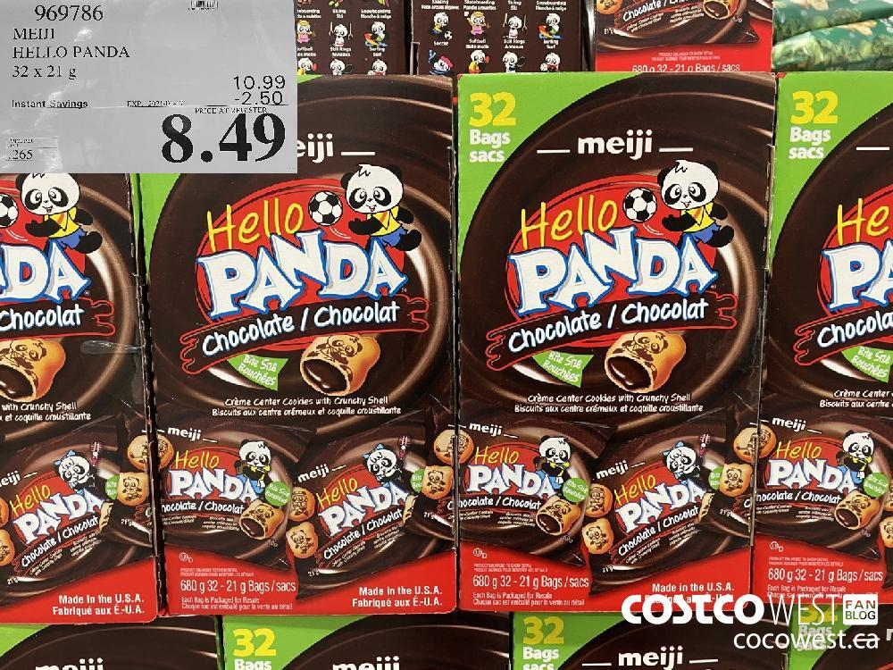 969786 MEIJI HELLO PANDA 32 x 21 g EXPIRY DATE: 2021-01-17 $8.49
