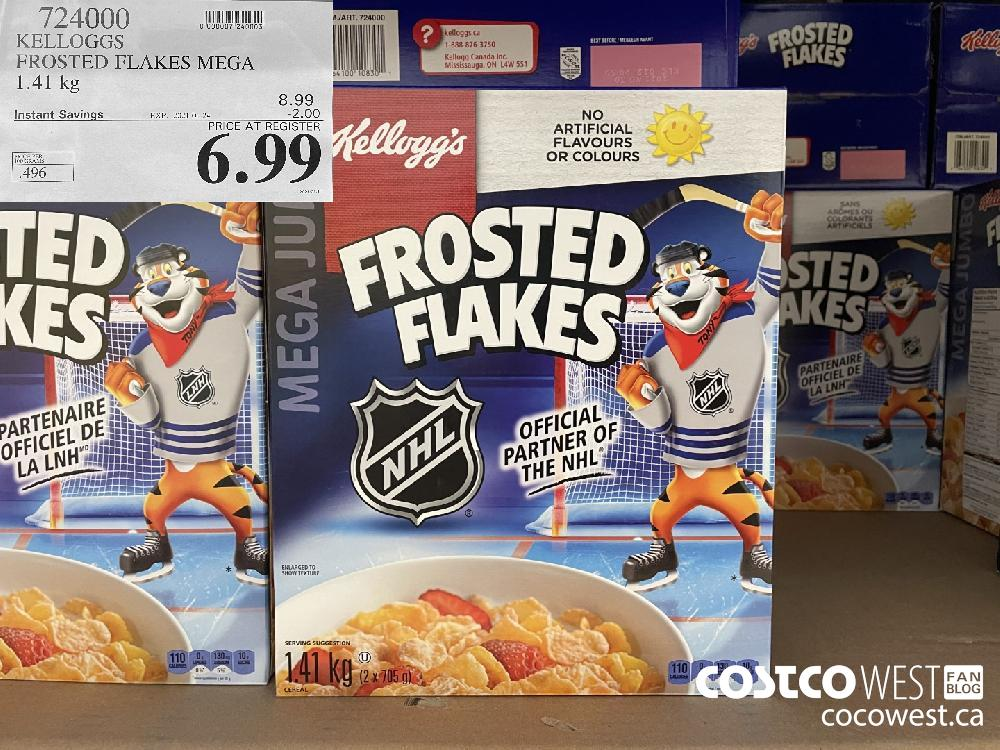 724000 KELLOGGS FROSTED FLAKES MEGA 1.41 kg EXPIRY DATE: 2021-01-24 $6.99