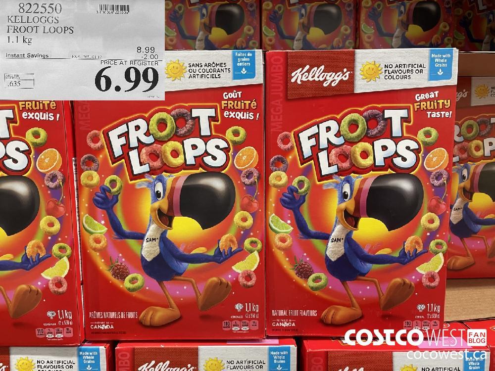 822550 KELLOGGS FROOT LOOPS 1.1 kg EXPIRY DATE: 2021-01-17 $6.99