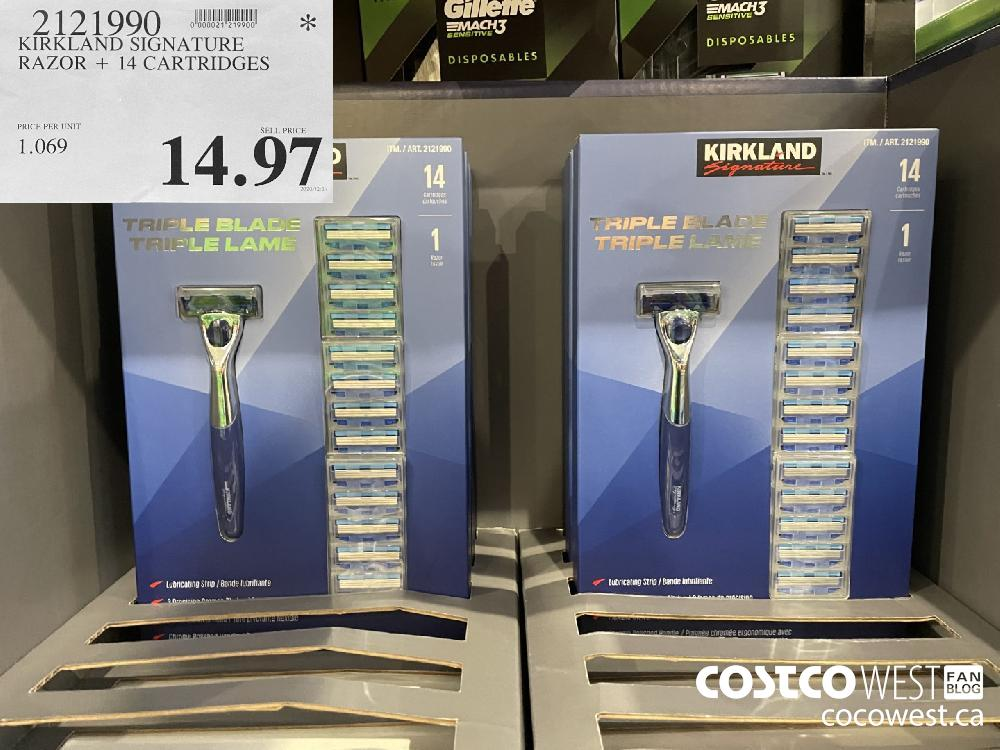 9121990 KIRKLAND SIGNATURE RAZOR 14 CARTRIDGES $14.97