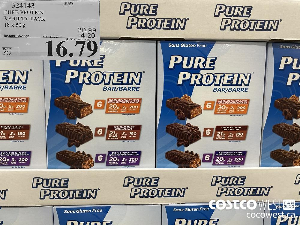 324143 PURE PROTEIN VARIETY PACK 18x 50 g EXPIRY DATE: 2021-01-17 $16.79