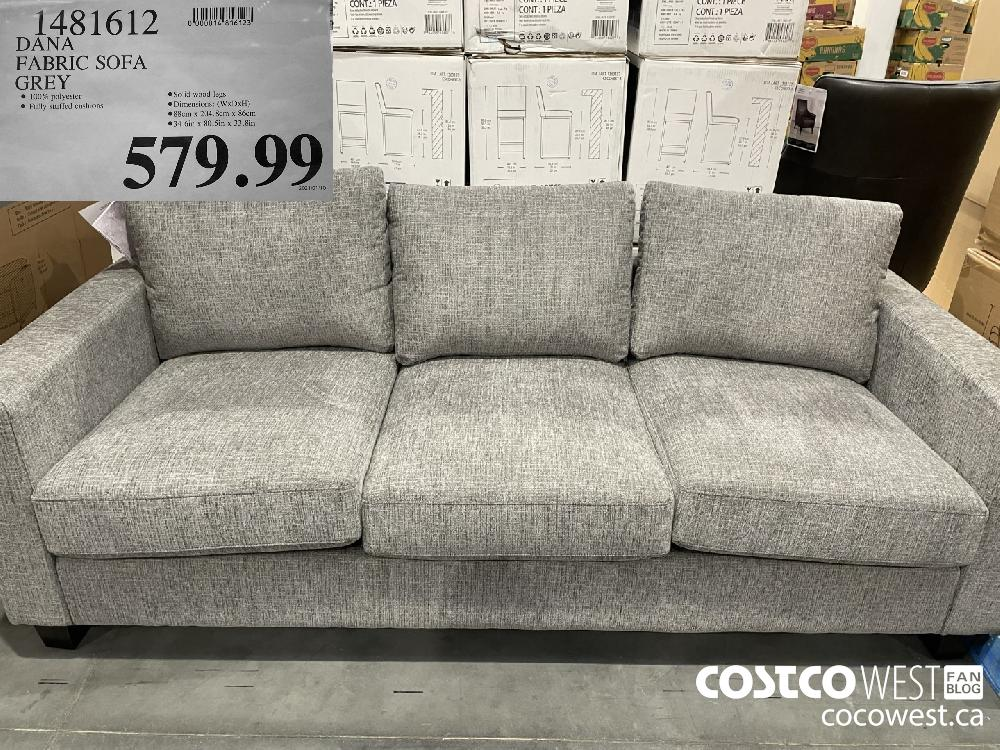 1481612 DANA FABRIC SOFA GREY $579.99