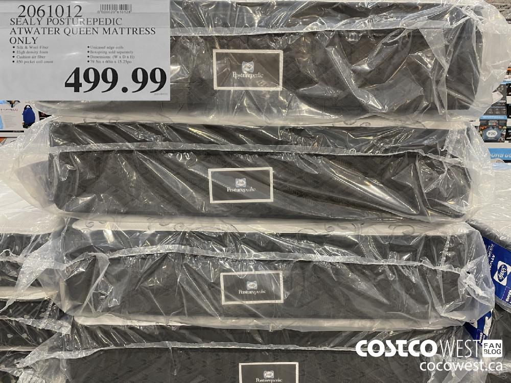 2061012 SEALY POSTUREPEDIC ATWATER QUEEN MATTRESS $499.99