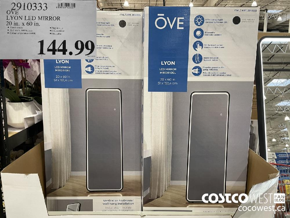 2910333 OVE LYON LED MIRROR 20 in. x 60 in. $144.99