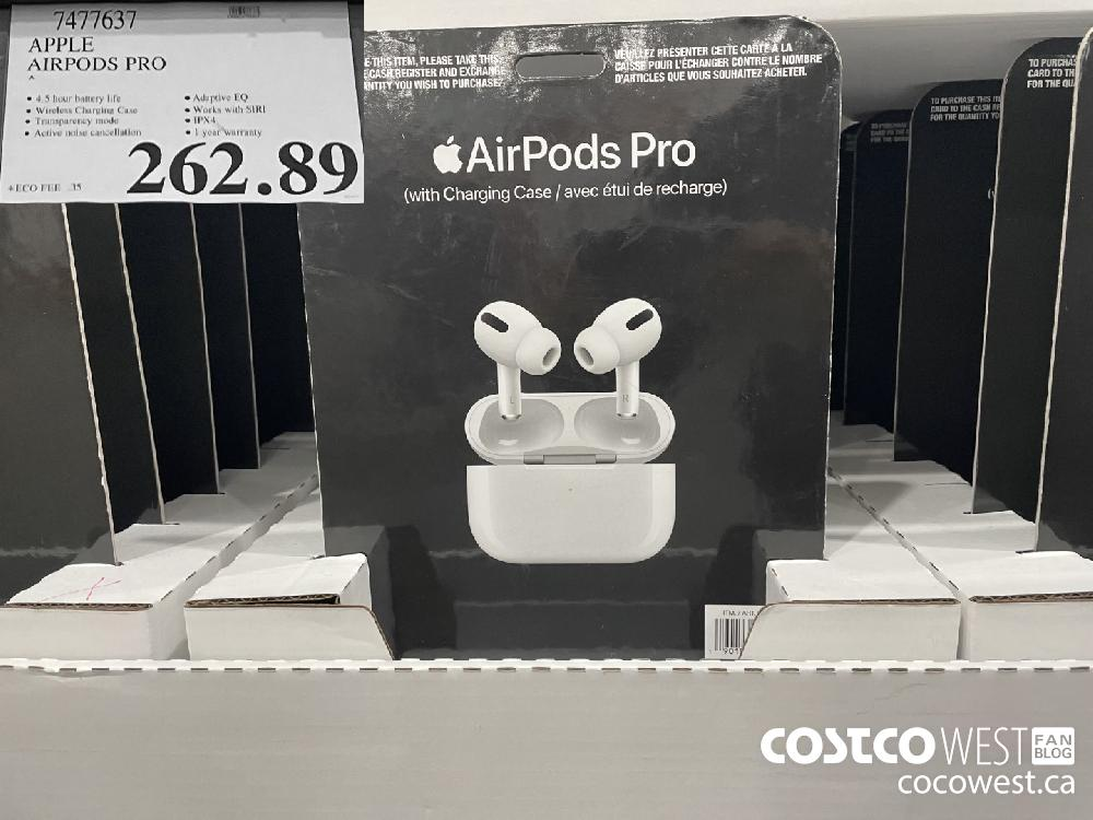 7477637 APPLE AIRPODS PRO $262.89