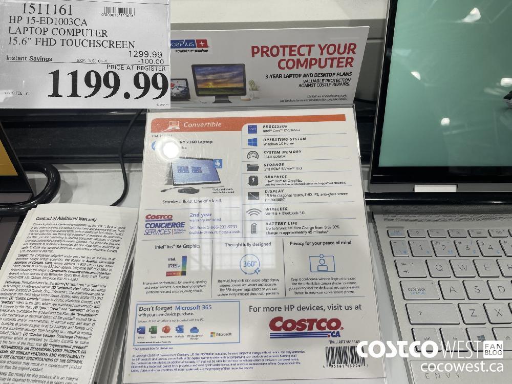 "1511161 HP 15-ED1003CA LAPTOP COMPUTER 15.6"" FHD TOUCHSCREEN EXPIRY DATE: 2021-01-31 $1199.99"
