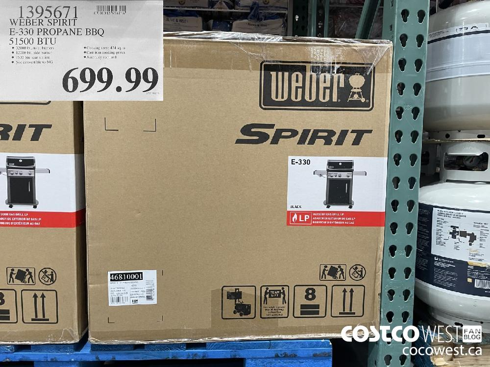 1395671 WEBER SPIRIT E-330 PROPANE BBQ 51500 BTU $699.99