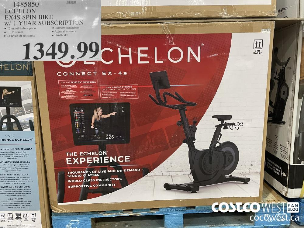 1485850 ECHELON EX4S SPIN BIKE $1349.99