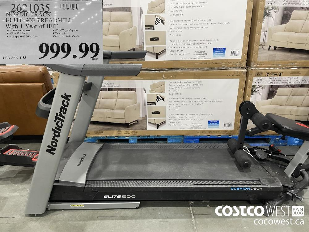 2621035 NORDICTRACK ELITE 900 TREADMILI. With 1 Year of [FIT $999.99