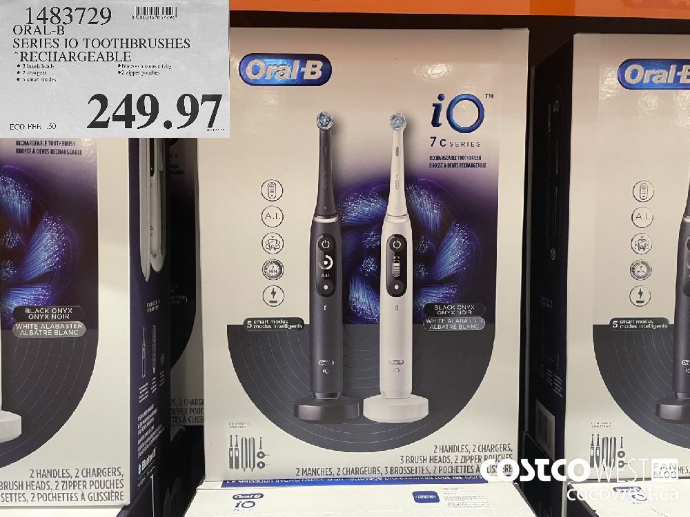 1483729 ORAL-B SERIES IO TOOTHBRUSHES RECHARGEABLE $249.97