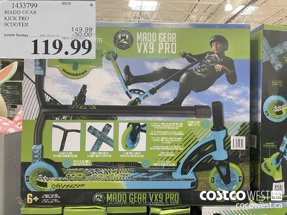 14537799 MADD GEAR KICK PRO SCOOTER EXPIRY DATE: 2021-01-19 $119.99
