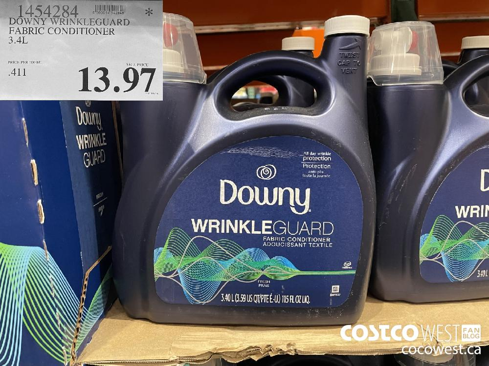 1454284 DOW WRINKLEGUARD FABRIC CONDITIONER 3.4L $13.97