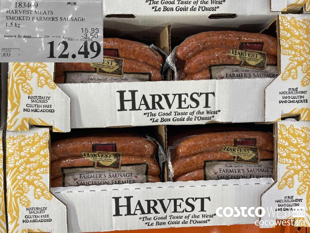 183469 HARVEST MEATS SMOKED FARMERS SAUSAGE 1.5 kg EXPIRY DATE: 2021-01-31 $12.49