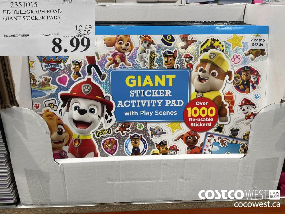 2351015 ED TELEGRAPH ROAD GIANT STICKER PADS EXPIRY DATE: 2021-01-18 $8.99