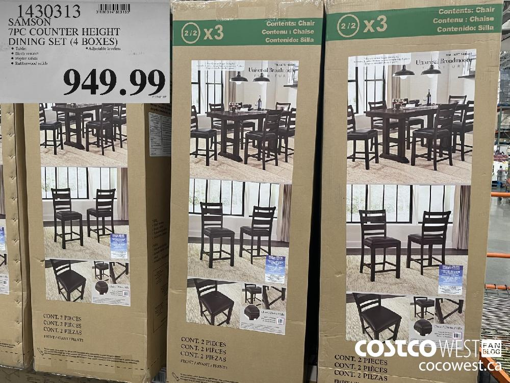 1430313 SAMSON 7PC COUNTER HEIGHT DINING SET (4 BOXES) $949.99