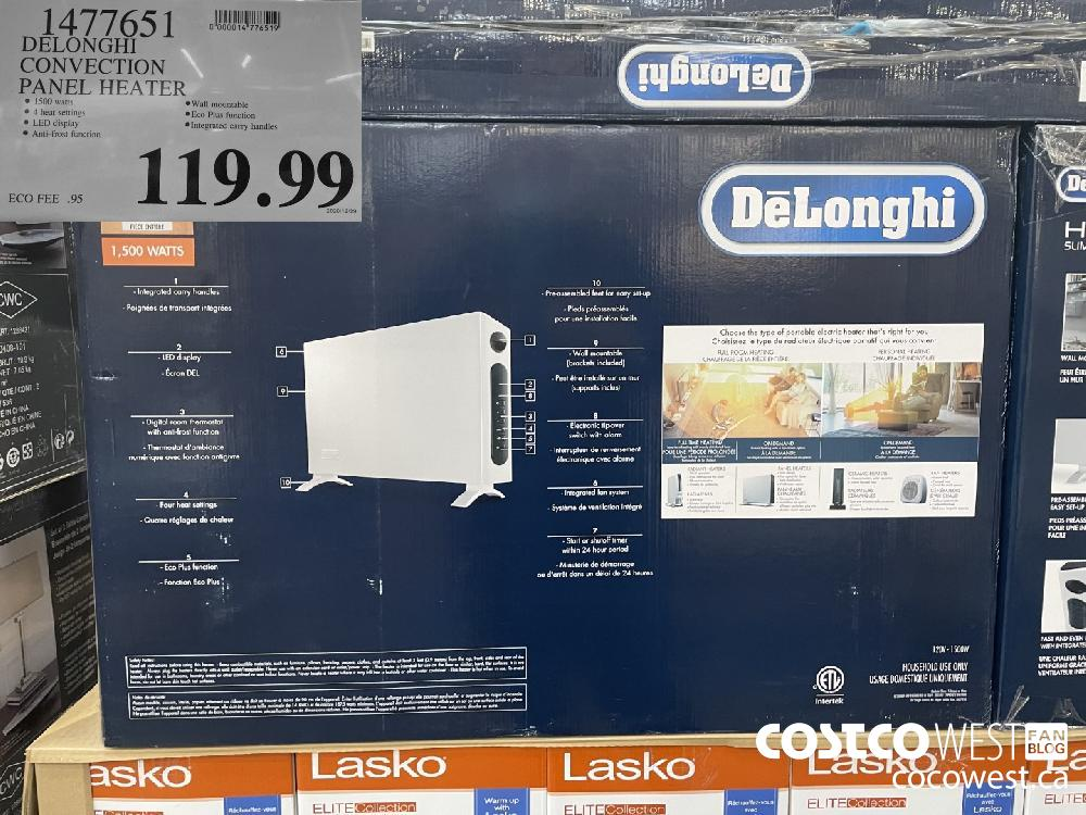 1477651 DELONGHI CONVECTION PANEL HEATER $119.99