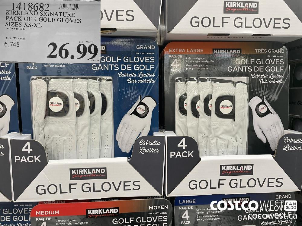 1418682 KIRKLAND SIGNATURE PACK OF 4 GOLF GLOVES SIZES XS-XL $26.99
