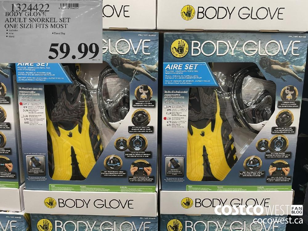 1324499 BODY GLOVE ADULT SNORKEL SET ONE SIZE FITS MOST $59.99