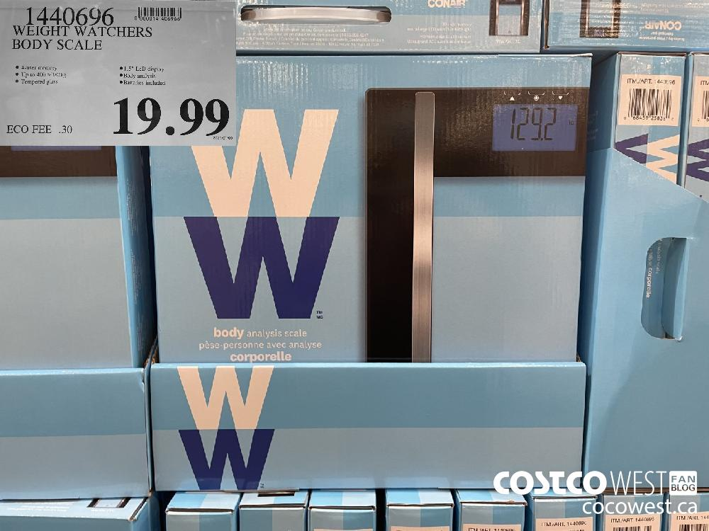1440696 WEIGHT WATCHERS BODY SCALE $19.99