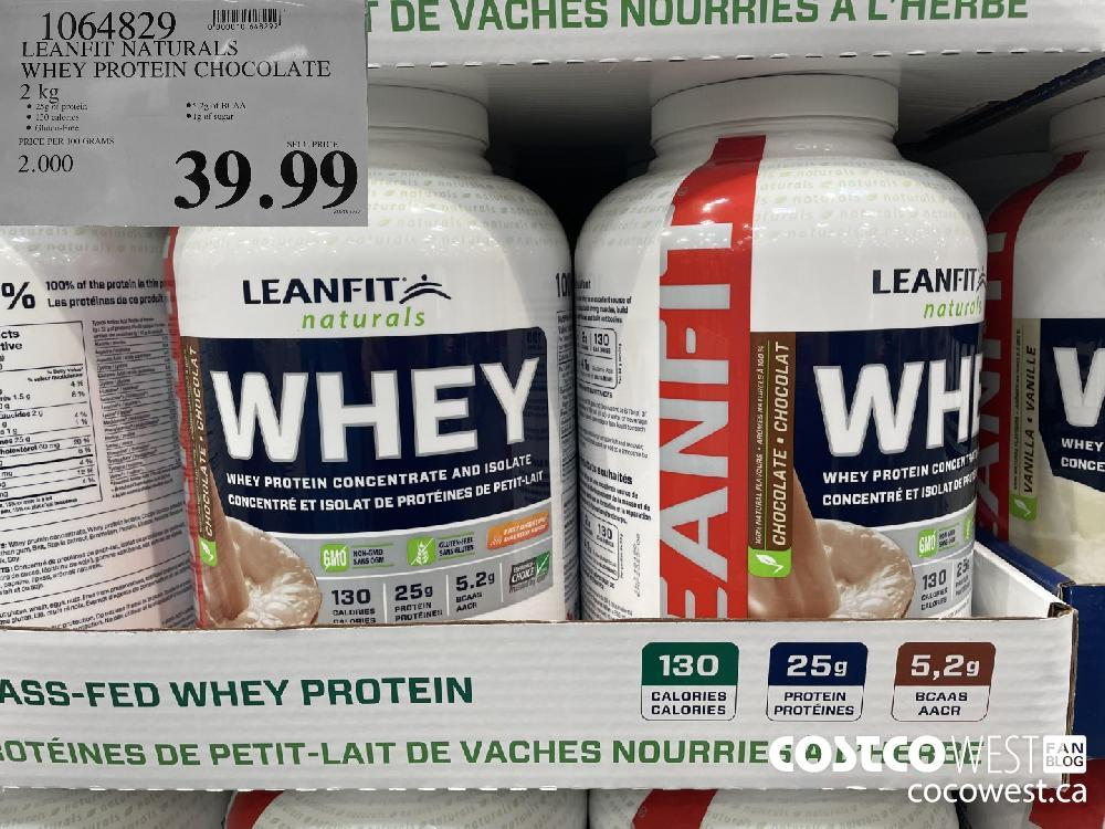 1064829 LEANFIT NATURALS WHEY PROTEIN CHOCOLATE 2 kg $39.99