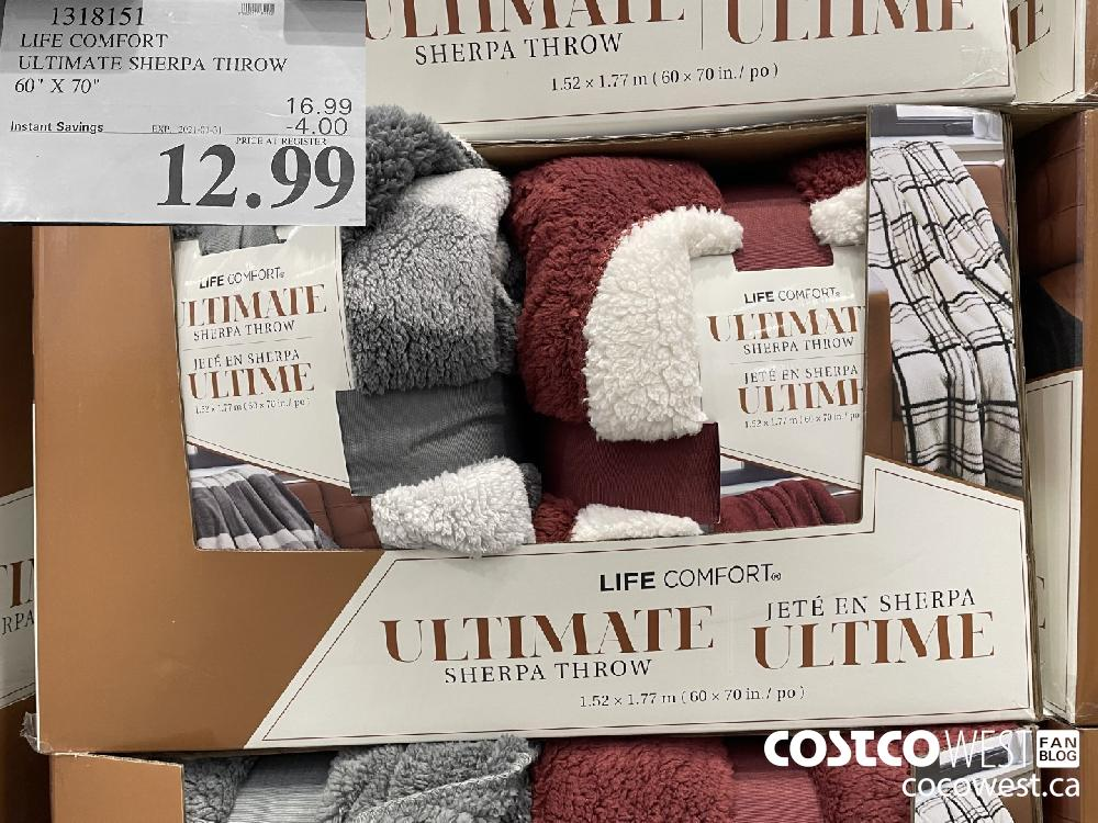 "1318151 LIFE COMFORT ULTIMATE SHERPA THROW 60"" X 70"" EXPIRY DATE: 2021-01-31 $12.99"