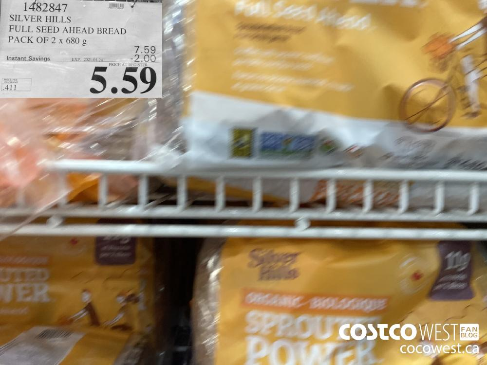 1482847 SILVER HILLS FULL SEE AHEAD BREAD PACK OF 2 x 680 g EXPIRY DATE: 2021-01-24 $5.59
