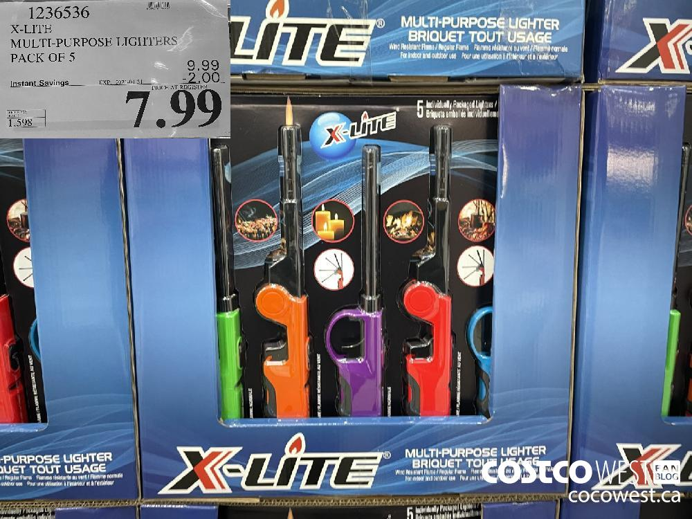 1236536 X-LITE MULTI-PURPOSE LIGHTERS PACK OF 5 EXPIRY DATE: 2021-01-31 $7.99