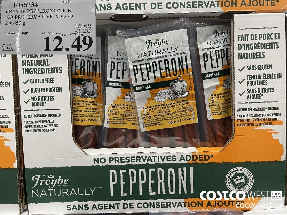 1056234 FREYBE PEPPERONI STICK NO PRESERVATIVE ADDED 2 x 450 g EXPIRY DATE: 2021-01-31 $12.49
