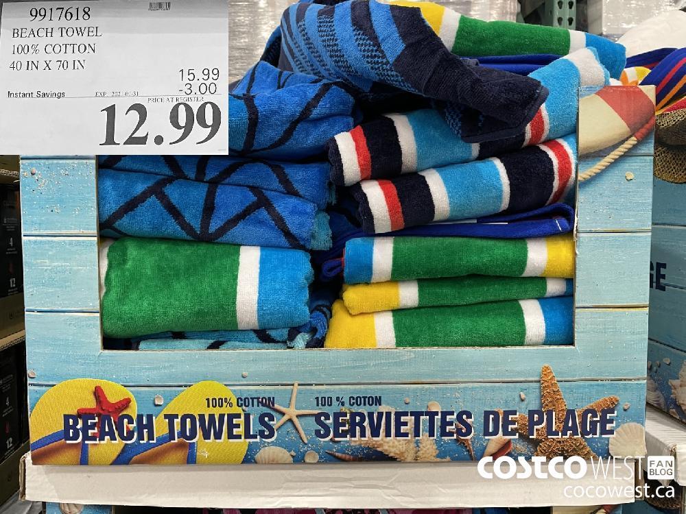 9917618 BEACH TOWEL 100% COTTON 40 IN X 70 IN EXPIRY DATE: 2021-01-31 $12.99