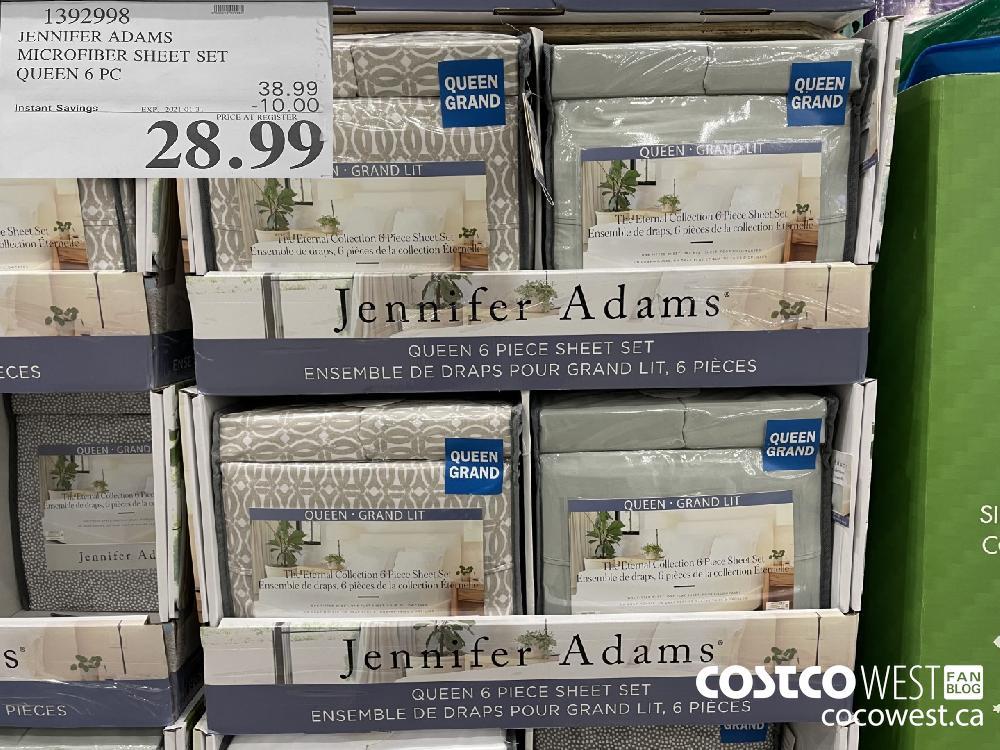 1392998 JENNIFER ADAMS MICROFIBER SHEET SET QUEEN 6 PC EXPIRY DATE: 2021-01-31 $28.99
