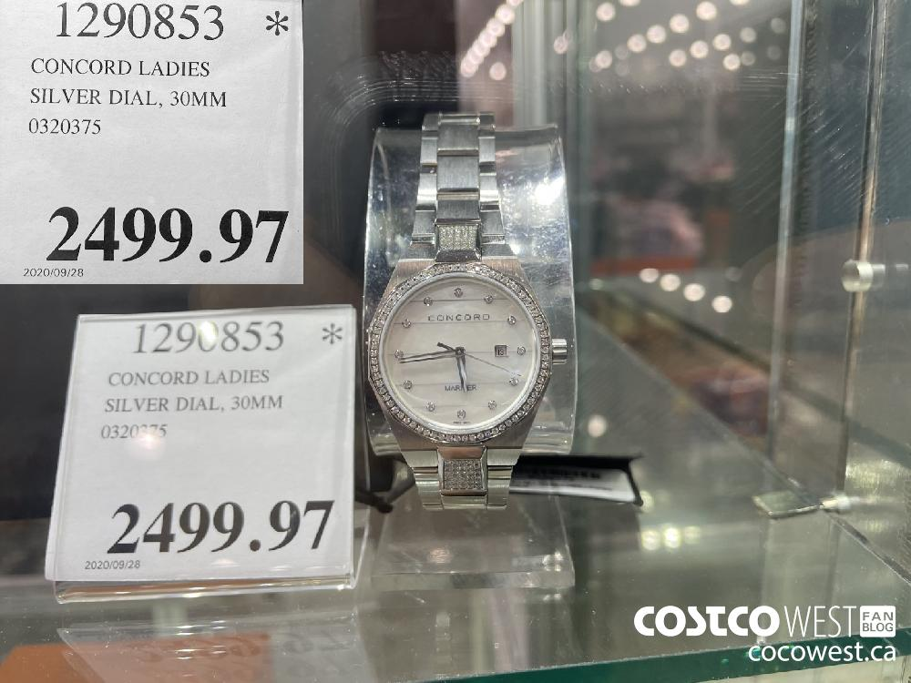 1290853 CONCORD LADIES SILVER DIAL 30MM 0320375 $2499.97
