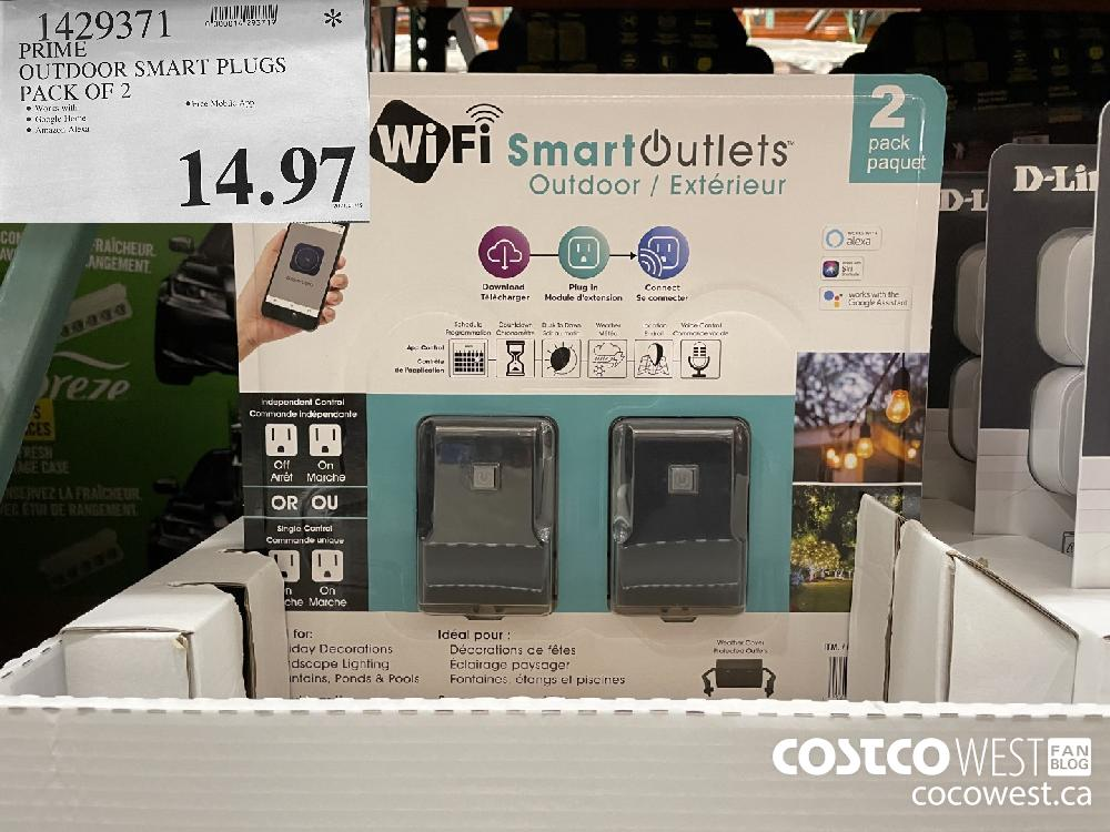 1429371 PRIME OUTDOOR SMART PLUGS PACK OF 2 $14.97