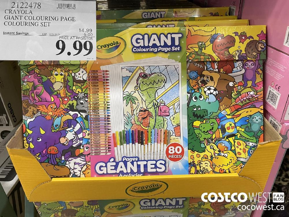 2122478 CRAYOLA GIANT COLOURING PAGE COLOURING SET EXPIRY DATE: 2021-01-26 $9.99