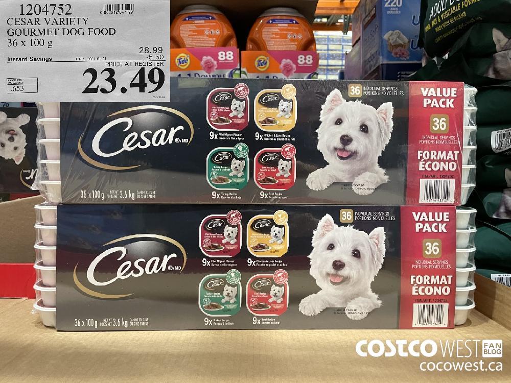 1204752 CESAR VARIETY GOURMET DOG FOOD 36 x 100 g EXPIRY DATE: 2021-01-31 $23.49