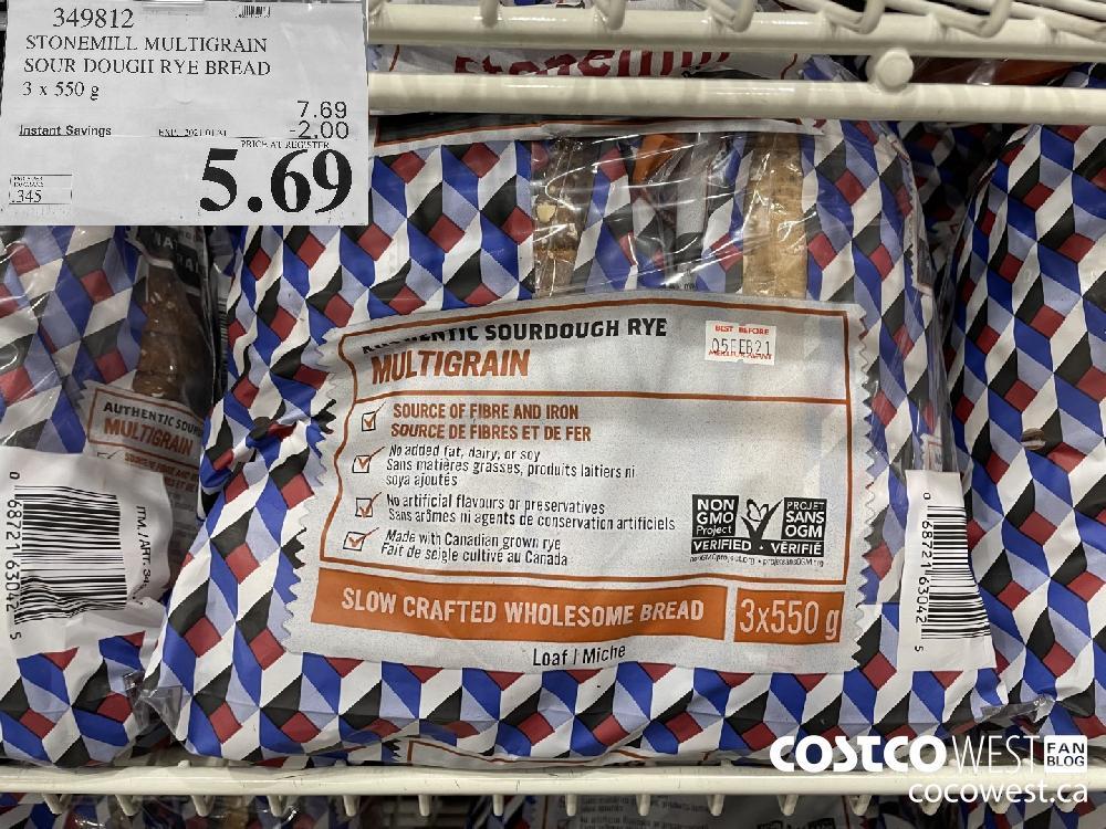 349812 STONEMILL MULTIGRAIN SOUR DOUGH RYE BREAD 3 x 550 g EXPIRY DATE: 2021-01-31 $5.69