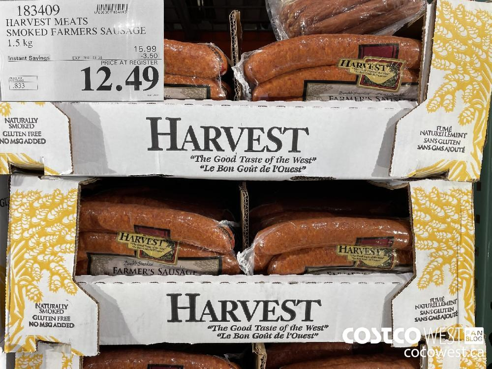 183409 HARVEST MEATS SMOKED FARMERS SAUSAGE 1.5 kg EXPIRY DATE: 2021-01-31 $12.49