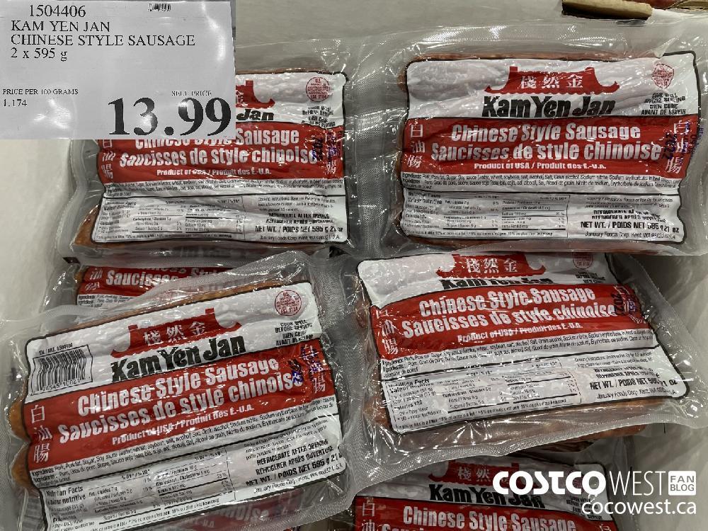 1504406 KAM YEN JAN CHINESE STYLE SAUSAGE 2 x 595 g $13.99