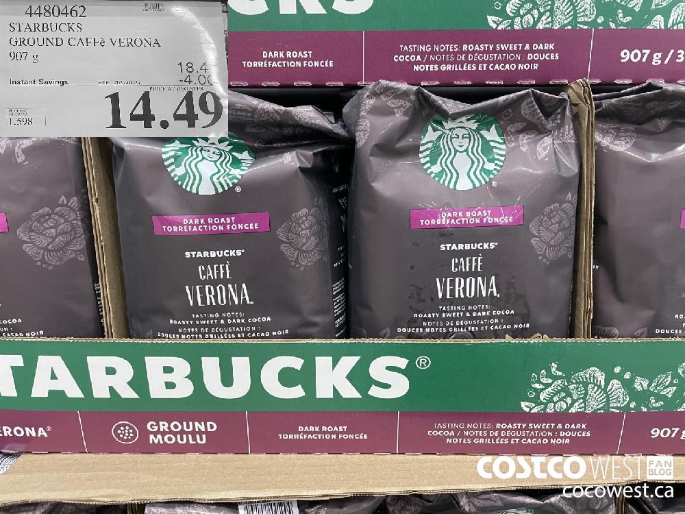 4480462 STARBUCKS GROUND CAFFe VERONA 907 g EXPIRY DATE: 2021-01-31 $14.49