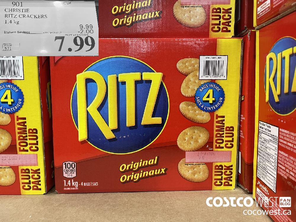 901 CHRISTIE RITZ CRACKERS 1.4kg EXPIRY DATE: 2021-02-07 $7.99