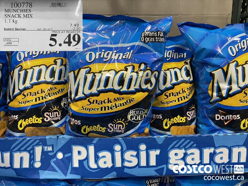 100778 MUNCHIES SNACK MIX 1.1 kg EXPIRY DATE: 2021-02-07 $5.49