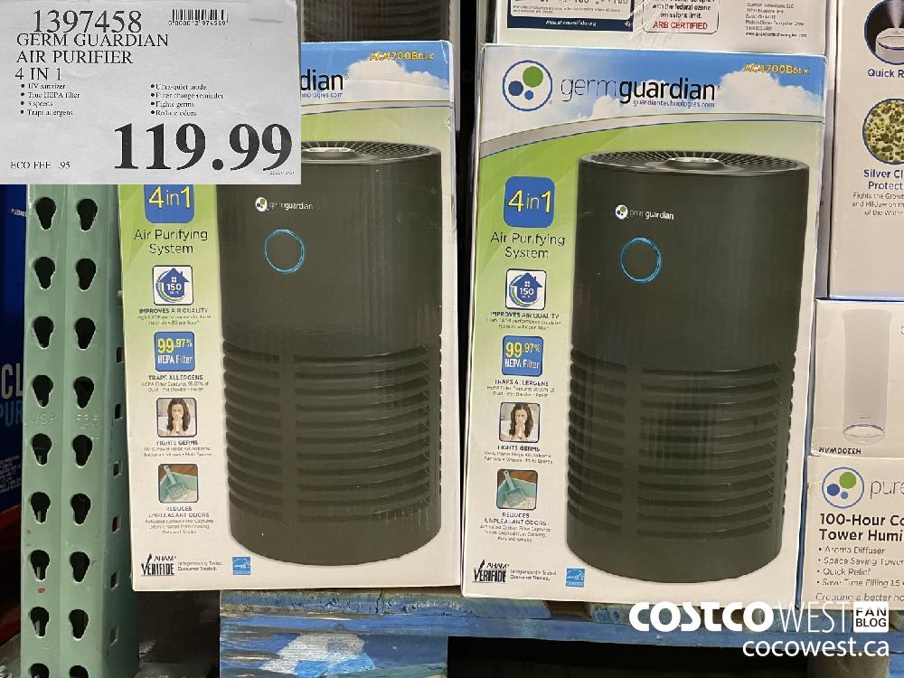 1397458 GERM GUARDIAN AIR PURIFIER 4 IN 1 $119.99