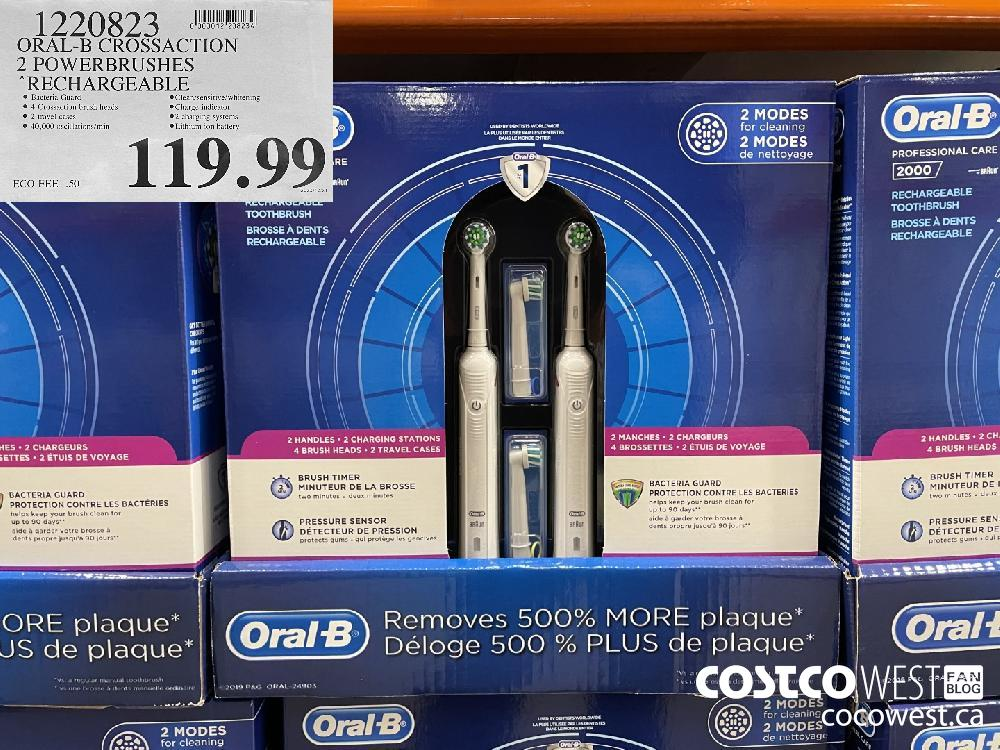 1220823 ORAL-B CROSSACTION 2 POWERBRUSHES RECHARGEABLE $119.99