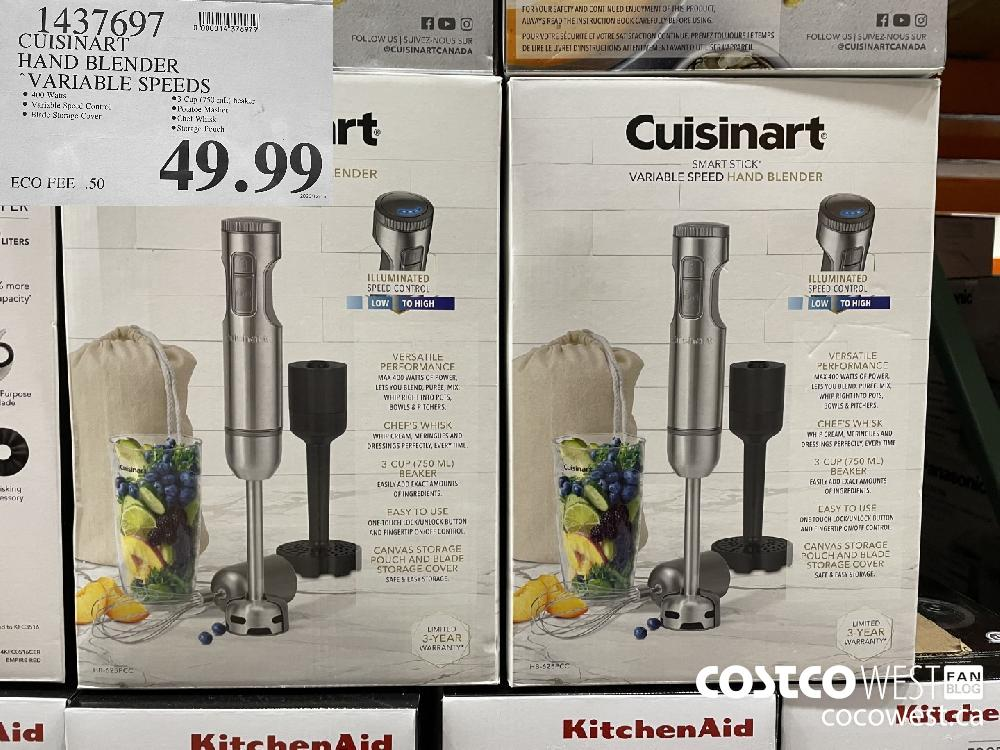 1437697 CUISINART HAND BLENDER VARIABLE SPEEDS $49.99