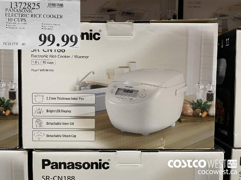 1372825 PANASONIC ELECTRIC RICE COOKER 10 CUPS $99.99